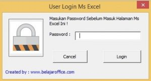 Form Login Password Excel VBA