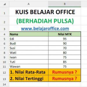 Kuis Belajar Office