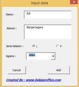 Form ComboBox