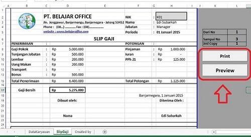 Membuat Tombol print Excel VBA