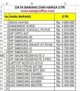 data-barang-dan-harga