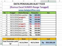 Rumus Excel SUMIF Range Tanggal Hasil