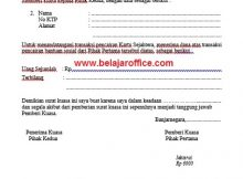 Surat kuasa bansos