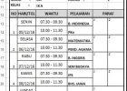 Format Cetak Kartu Ujian Siswa (UAS)