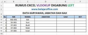 Contoh Soal Rumus Excel Vlookup Digabung LEFT