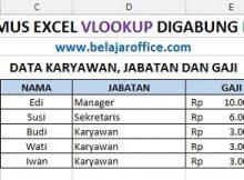 Hasil Rumus Excel Vlookup digabung LEFT