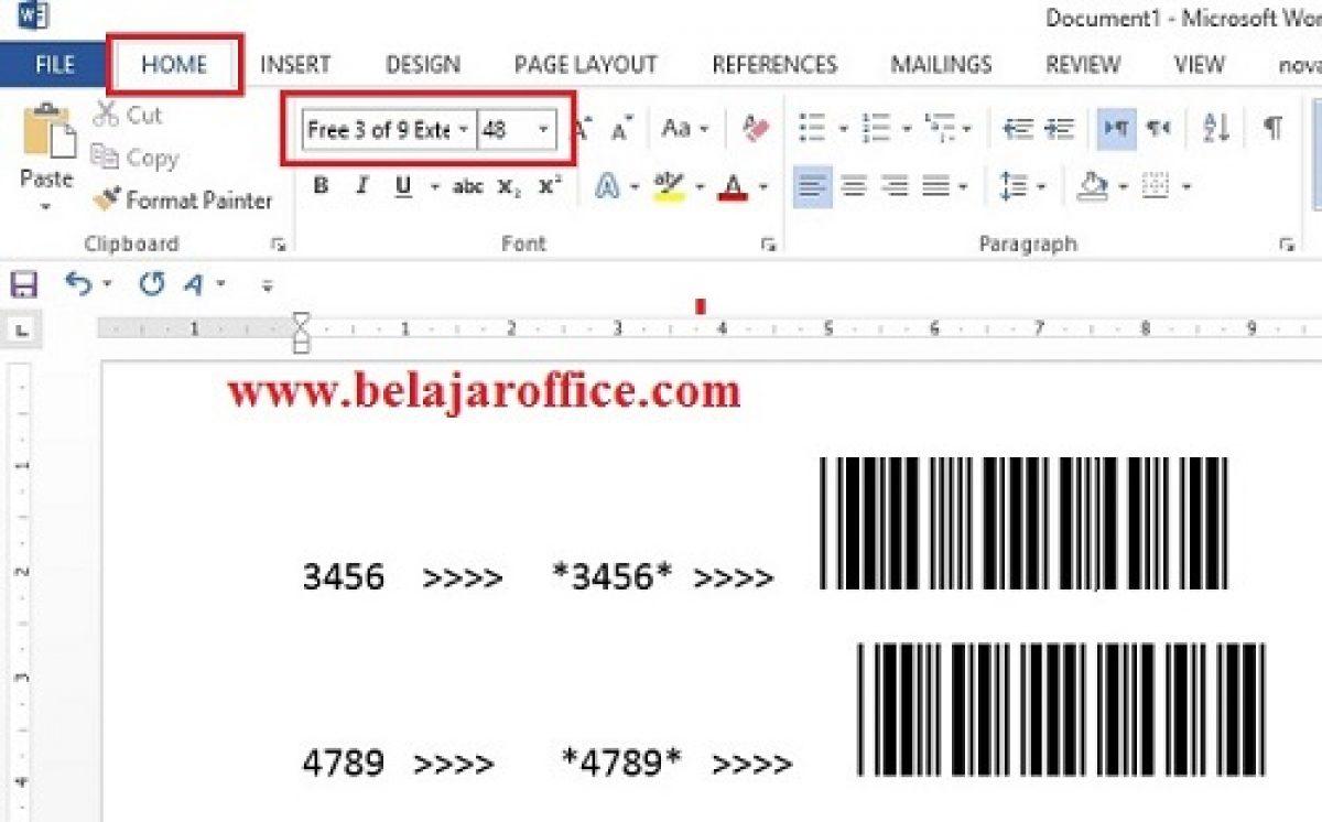 Cara Membuat Barcode Menggunakan Ms Office Word Atau Excel Belajar Office