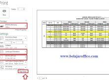 print file Excel