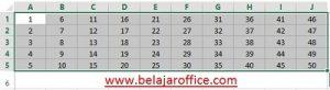 tabel angka 1-50