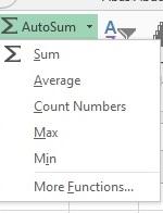 fungsi lain auto sum excel