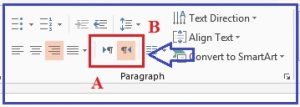 Paragraph PowerPoint 2013
