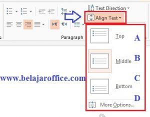 Align text horizontal