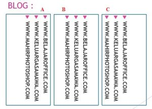 Hasil Align text vertikal