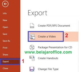 Export PowerPoint