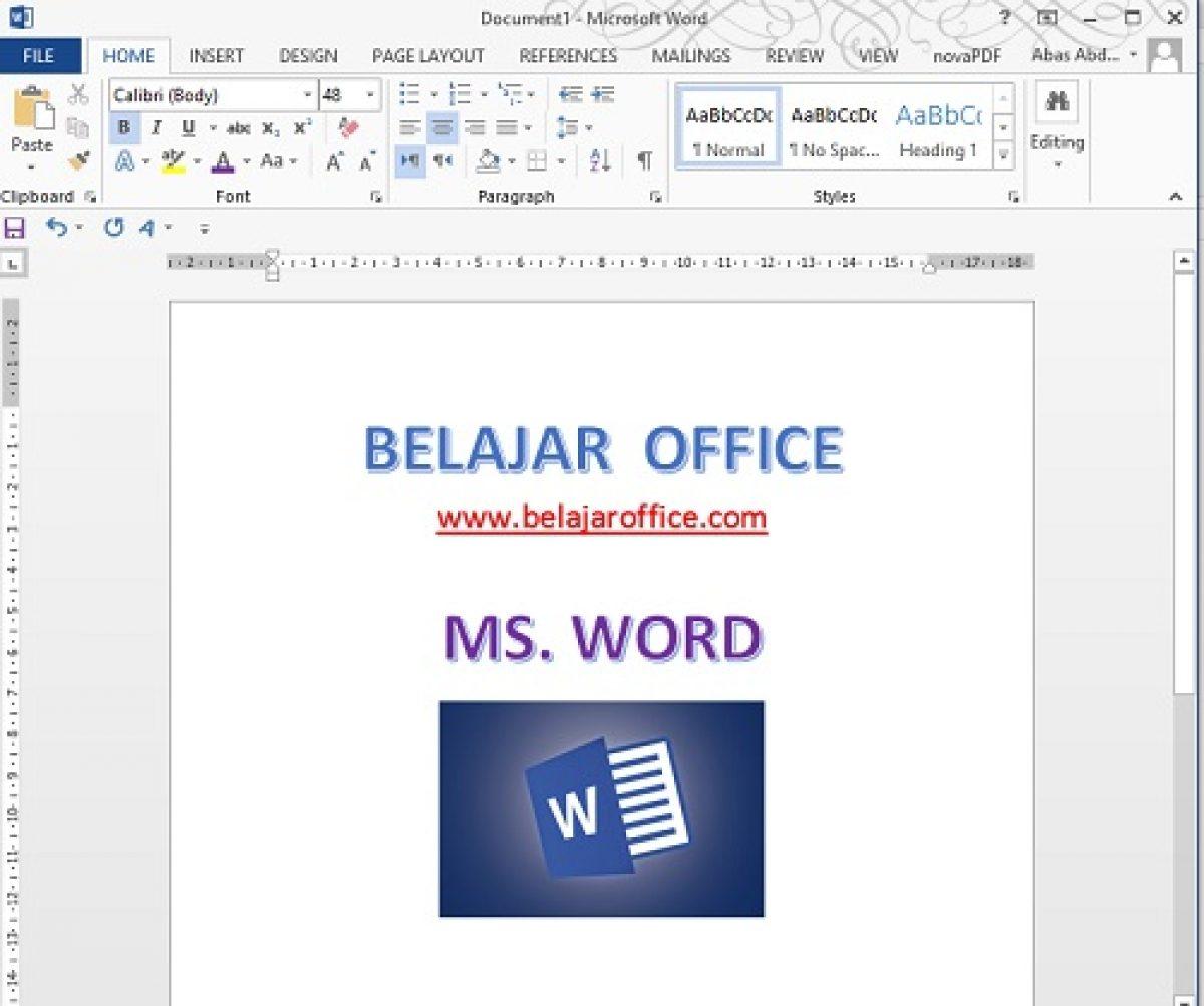 Pengertian Microsoft Word, Fungsi dan Manfaatnya | Belajar Office