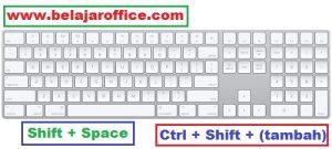 Shortcut Pada Ms Excel