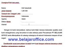 Contoh Surat Archives Page 5 Of 10 Belajar Office