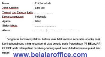 Contoh Surat Laman 5 Dari 9 Belajar Office
