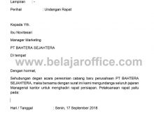 Contoh Surat Archives Page 3 Of 10 Belajar Office