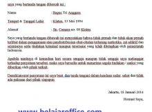 Contoh Surat Pernyataan Bebas Narkoba dan Tindak Kriminal Pribadi