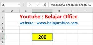 Cara 3 Pengurangan Excel