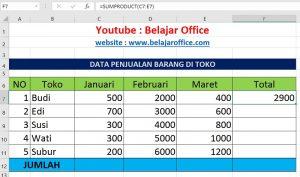 Cara 4 Penjumlahan Excel Otomatis