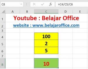 Cara 2 Pembagian Excel