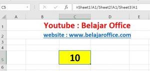 Cara 3 Pembagian Excel