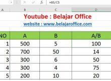 Cara 4 Pembagian Excel