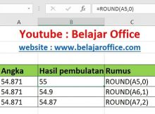 Rumus Pembulatan Excel ROUND