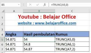 Rumus Pembulatan Excel TRUNC