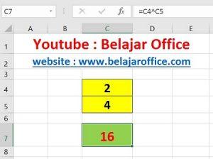 Cara 2 Pangkat Excel