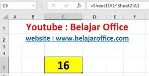 Cara 3 Pangkat Excel