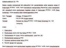 Contoh Surat Undangan Arisan Rt Yang Baik