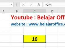 Cara 1 Pangkat Excel