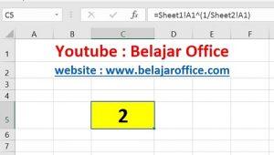 Cara 3 Akar Pangkat Excel Beda Sheet